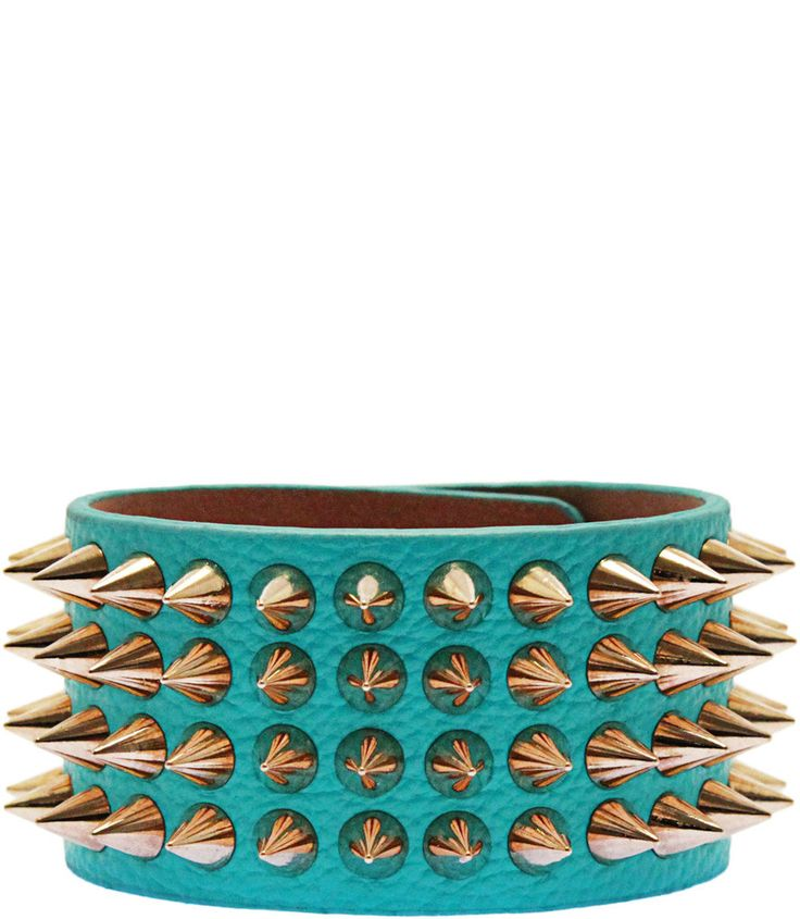 QUEEN OF SPIKES BRACELET IN TURQUOISE $14.99 CAD
