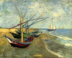 Barche da pesca Saint Maries de la Mer Van Gogh 1888