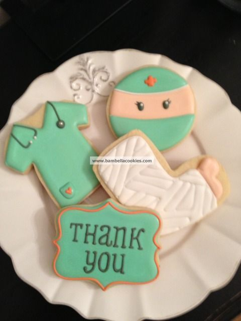 Nurse, Doctor, and Cast Cookies by Bambellacookies {Inspiration}