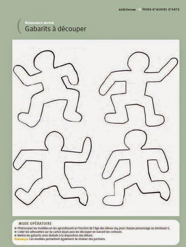 Le graphisme proposé à nos élèves, pendant cette période, sera axé sur le travail de cet incroyable artiste.Nous avons dessiné des gabarits, à partir du livre Hors d'oeuvres d'arts, un par enfant.Des