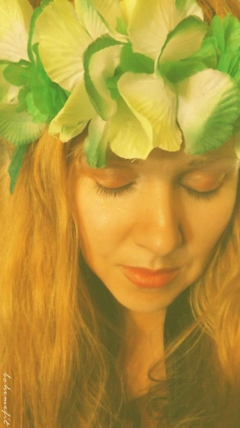 ☽ wreath 'applepie hawaii' ☾ #diy #hair