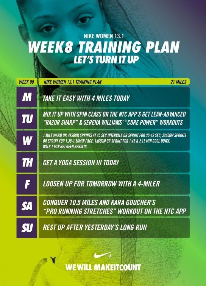 Week 8 - Nike Women 13.1 Training Plan