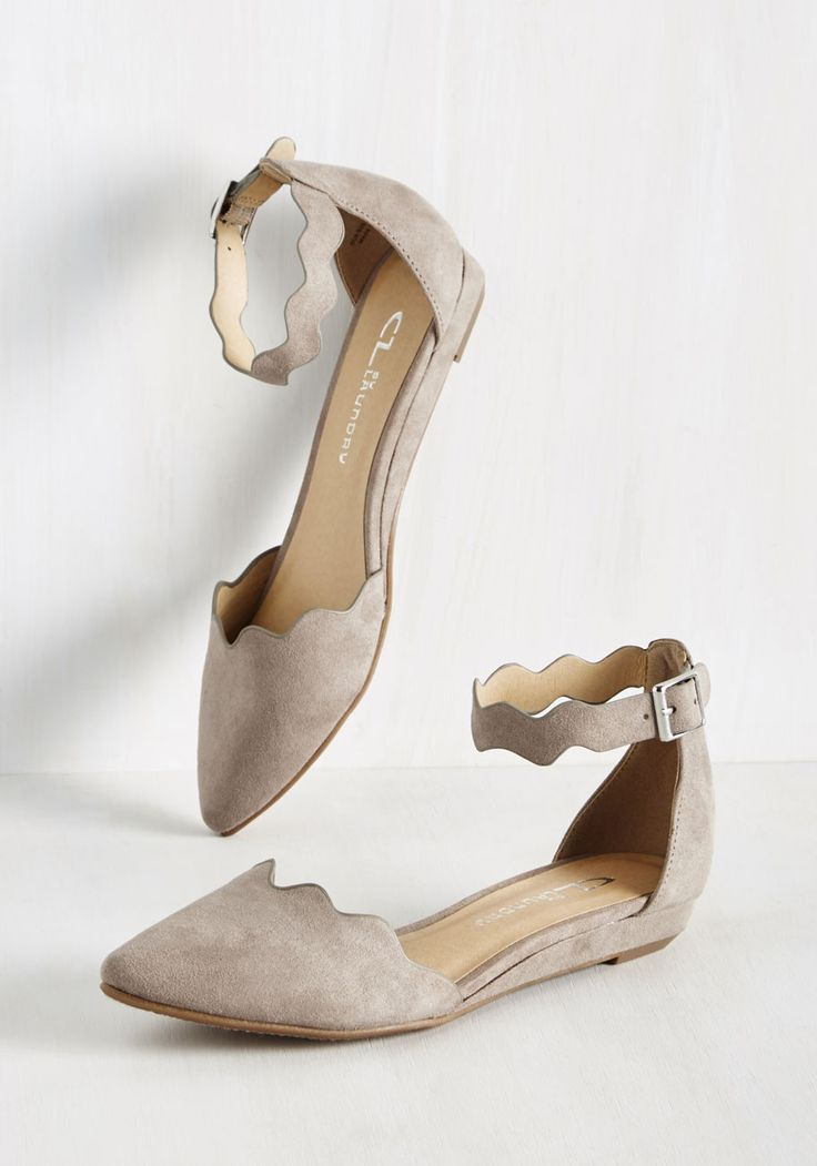 Everywhere and Any Flair Flat in Tan. How many looks can you create with these taupe flats? #grey #modcloth