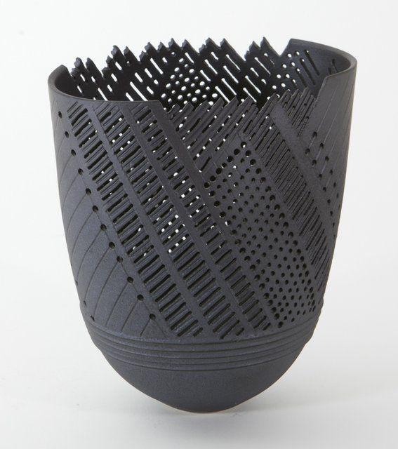 Horst Gobbels: grijze vaas keramiek