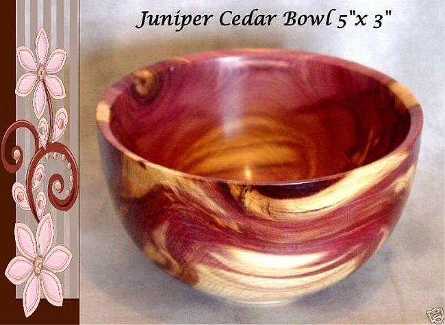 Juniper Cedar Wood Bowl