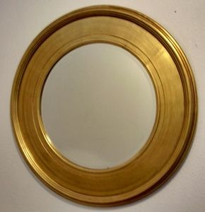 Gold Framed Mirrors: Round Gold Leaf Mirror 920mm dia