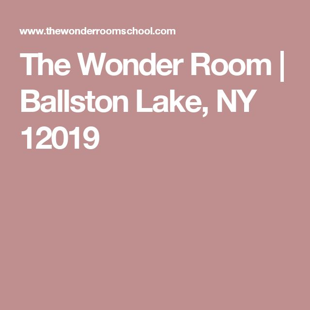 The Wonder Room | Ballston Lake, NY 12019