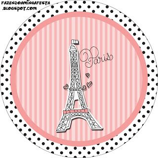 Paris Birthday Kit - Invitations, boxes, labels, images  more. X
