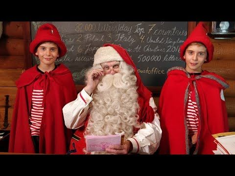Santa Claus Village before Christmas in Lapland Finland Rovaniemi & Santa's message for children - YouTube