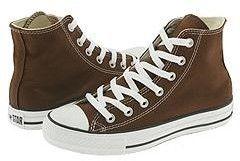 Converse 1P626 : Chuck Taylor Hi Unisex Sneakers Chocolate 9 Mens 11 Womens