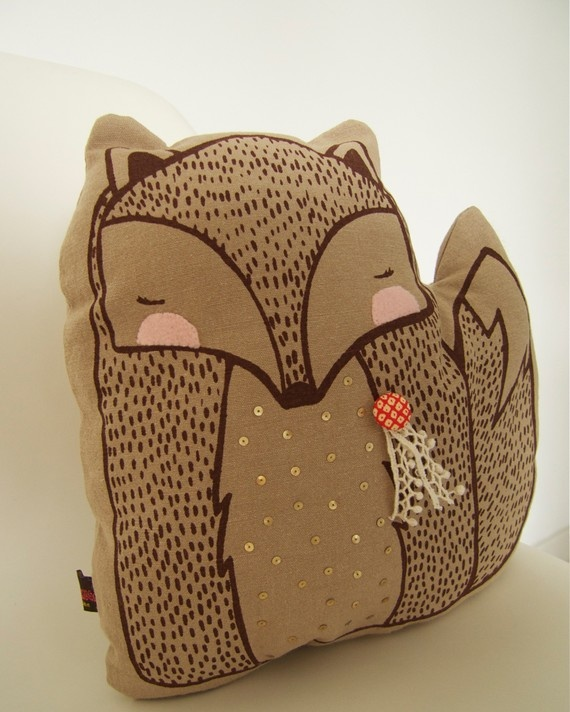Fox pillow $32