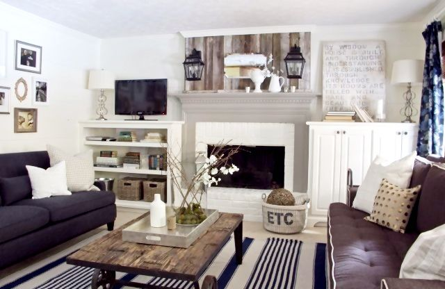 fireplace: Decor, Ideas, Cottages Style, Living Rooms, Colors, Livingroom, Painting Fireplaces, Families Room, Cottages Living Room