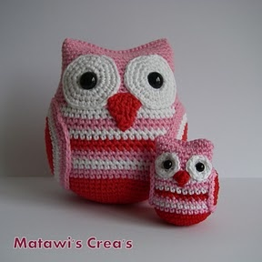 small owls, were made into keychains. very cute.