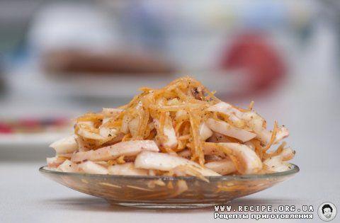 Фото рецепта: Маринованные кальмары