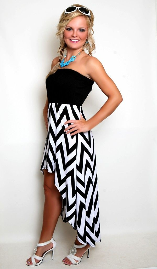 High-Low Chevron Dress. Don't usually like the chevron dresses, but this is cuter.