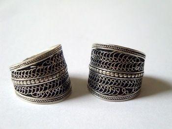 Восточный непал индийский ручной тибет серебра антиквариата старинные провод декор открытое кольцо мужская древний амулет этнические экзотические цыганский бохо