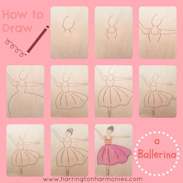 how to draw a ballerina bun