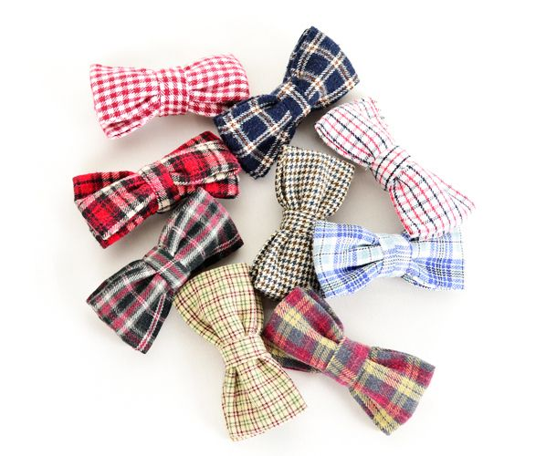 Reworked vintage fabric bow-ties