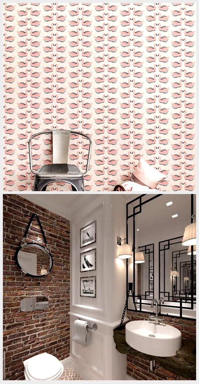 Peel And Stick Wallpaper Self Adhesive Wallpaper Pink Swan Removable Wallpaper Accent Wall Co Paper Wall Decor Contact Paper Wall Accent Wall