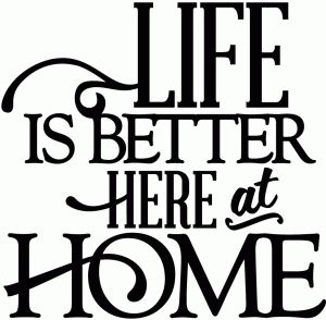 View Design: life is better here at home - vinyl phrase
