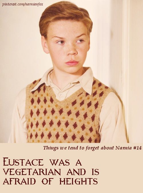 But then Eustace became a dragon that would naturally eat meat and fly......