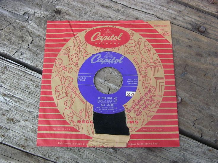 Vintage Single 45 Record Kay Starr If You Love Me Capitol Records F2769 1950s #1950s