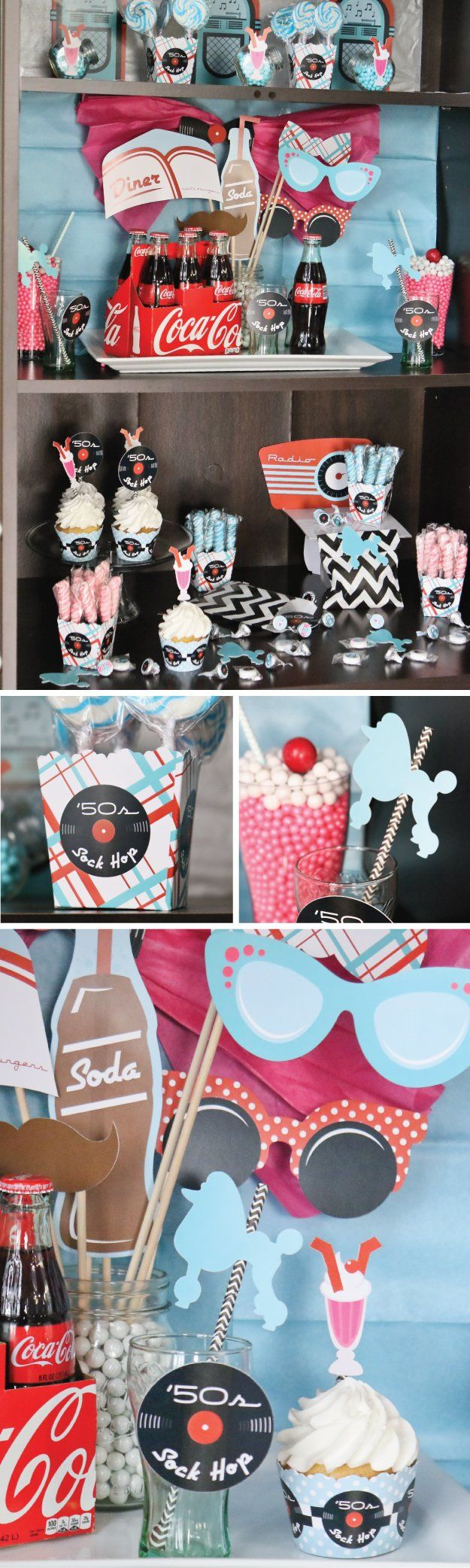 1950s Theme Party Ideas - Fifties Sock Hop Decorations and Diner Supplies from BigDotOfHappiness.com
