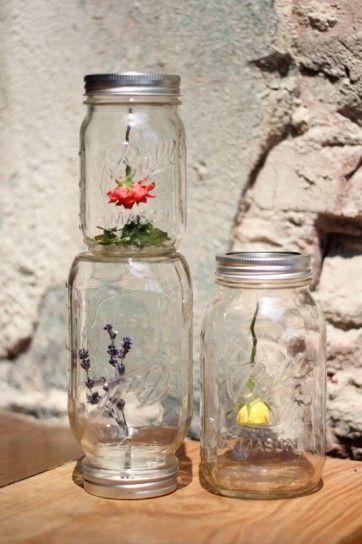 Oltre 25 fantastiche idee su decorare barattoli di vetro - Decorare vasi di vetro ...