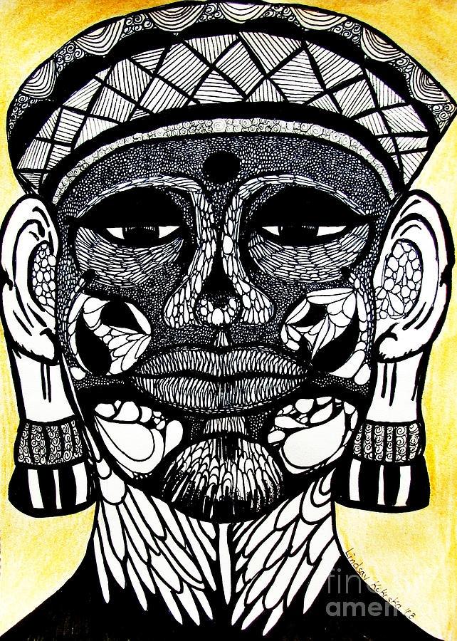 Imperfect Buddha. Ink by Lindsay Kokoska