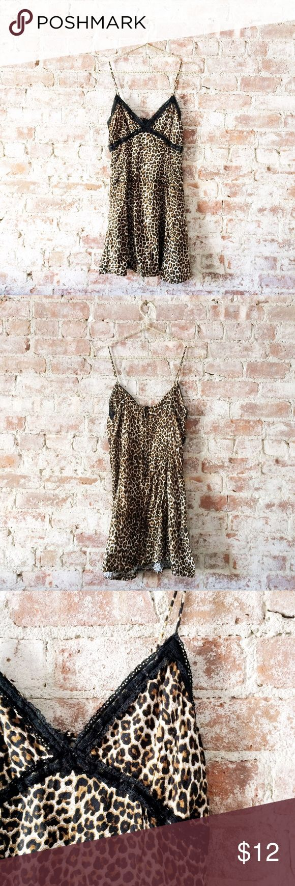 Motel Rocks Antoinette Leopard Slip Dress Sexy lil slip Dress in leopard by Motel Rocks! Fitted up top and trimmed with lace. Looks great with strappy bralettes peeping out, too! Priced low for a quick sale. No trades. Motel Rocks Dresses Mini