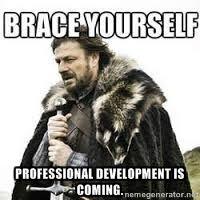 meme Brace yourself - Professional development is coming.