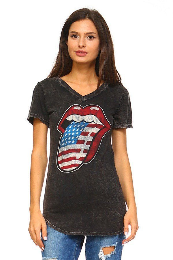 Rolling Stones American Flag T-Shirt
