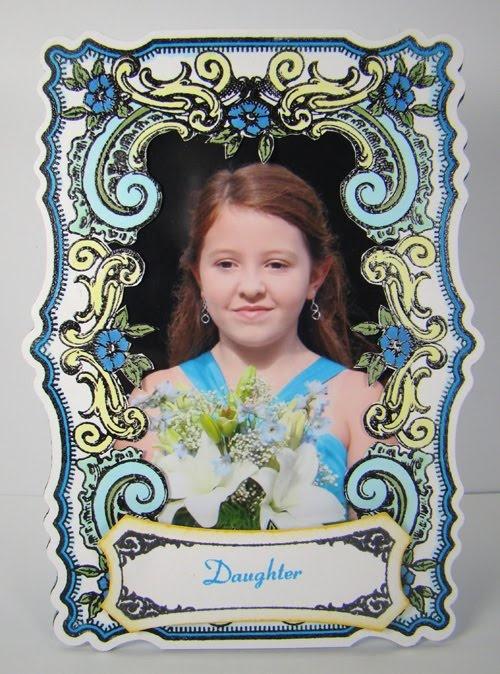 photo frame designed by Angela Barkhouse using JustRite Papercraft Good Friends Labels Twenty-Nine, Just Because Vintage Labels, and Vintage Rose Medallions