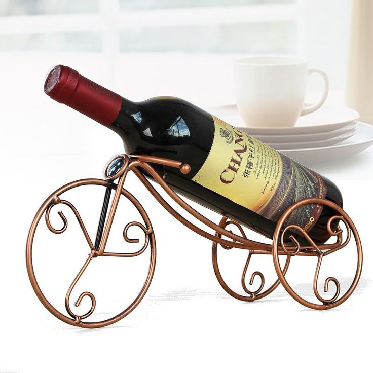 Creative home Wine Shelf Decoration Iron wine rack metal bike Craft Bar Party tricycle wine hanger display Bottle Wine Holders