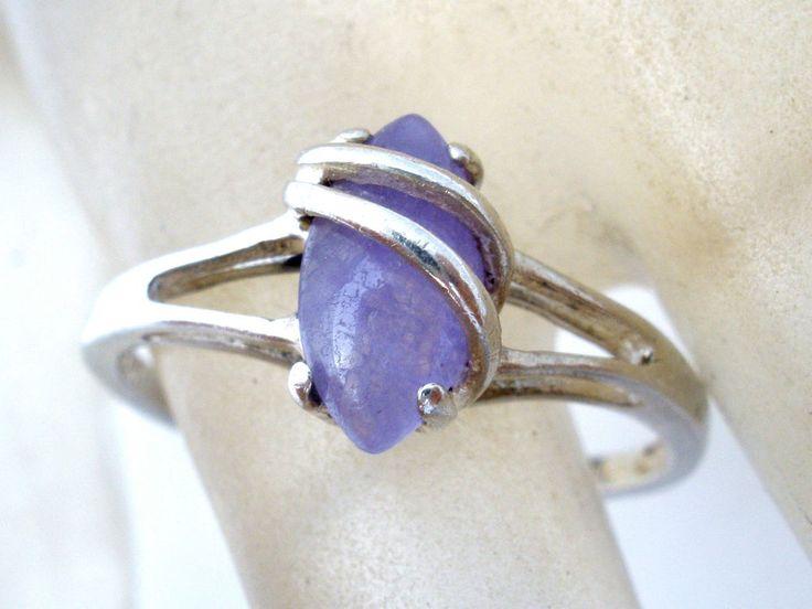 Sterling Silver Amethyst Ring Avon Vintage Size 10 Purple