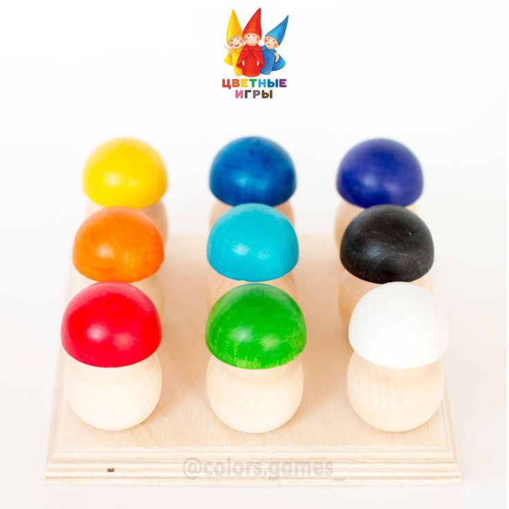 """""""Цветные грибочки"""" Изучаем цвета и развиваем мелкую моторику"""