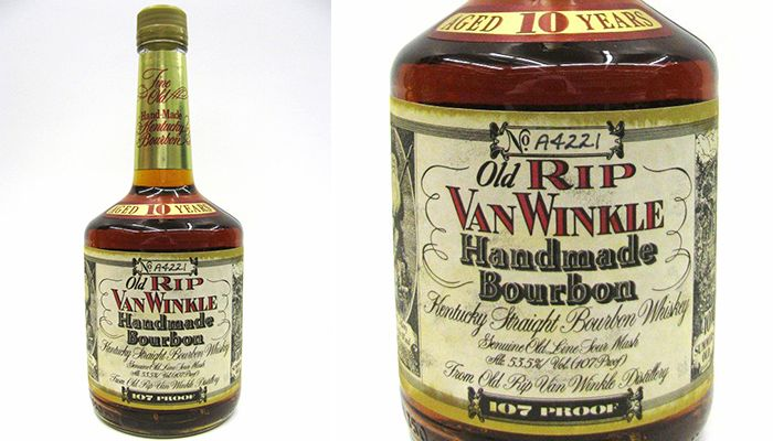 #8 on our Top 10 Most Popular Bourbon Brand is Old Rip Van Winkle Whiskey