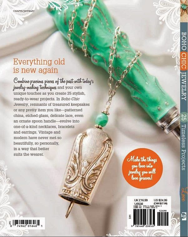 A Peek At The Back Cover Of My New Book, BoHo Chic Jewelry