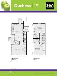 Duchess floorplan in Auburn Bay, Calgary AB