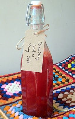 Strawberry Cordial - Redwall Series.  I really wonder if this tastes as heavenly and amazing as Jacques wrote it in all of those feasts.