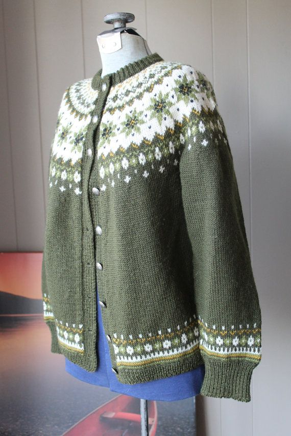 1940s Norwegian Cardigan Sweater