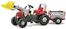 Rolly Toys - 81 139 7 - Tracteur À Pédales - Rollyjunior Rt + Remorque + Pelle Avant