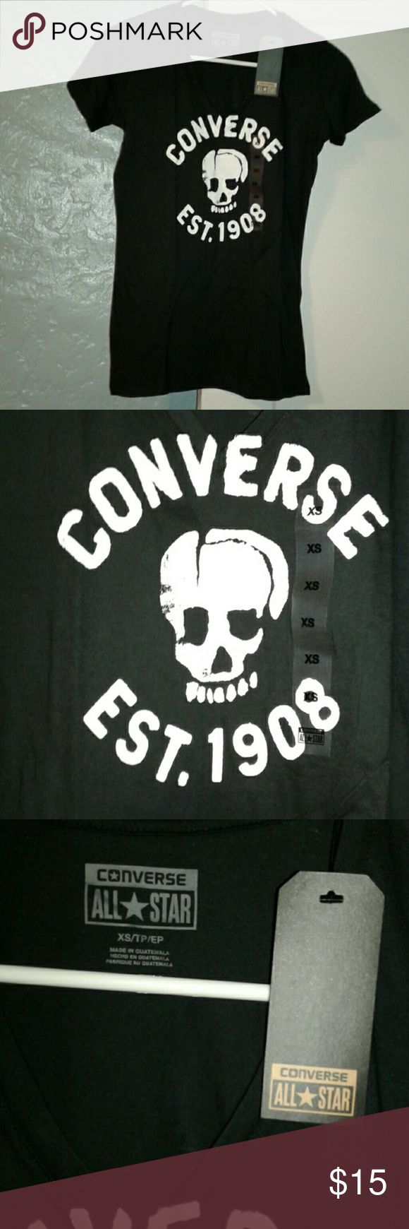 NWT ladies converse tee NWT black size xsmall ladies converse tee. Converse Tops