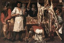 Annibale Carracci, The Butcher's Shop, early 1580s