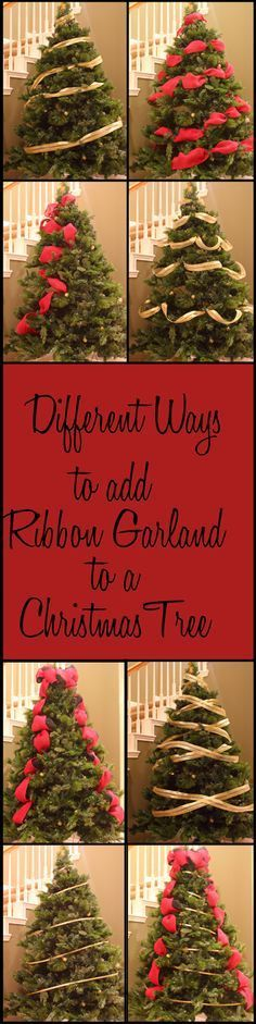 Adding ribbon garland to a Christmas tree is one of the most challenging parts to decorating a Christmas tree - but it doesn't have to be! Here are a few ideas for how to add ribbon garland to a Christmas tree. Barber Pole MethodPossibly ...