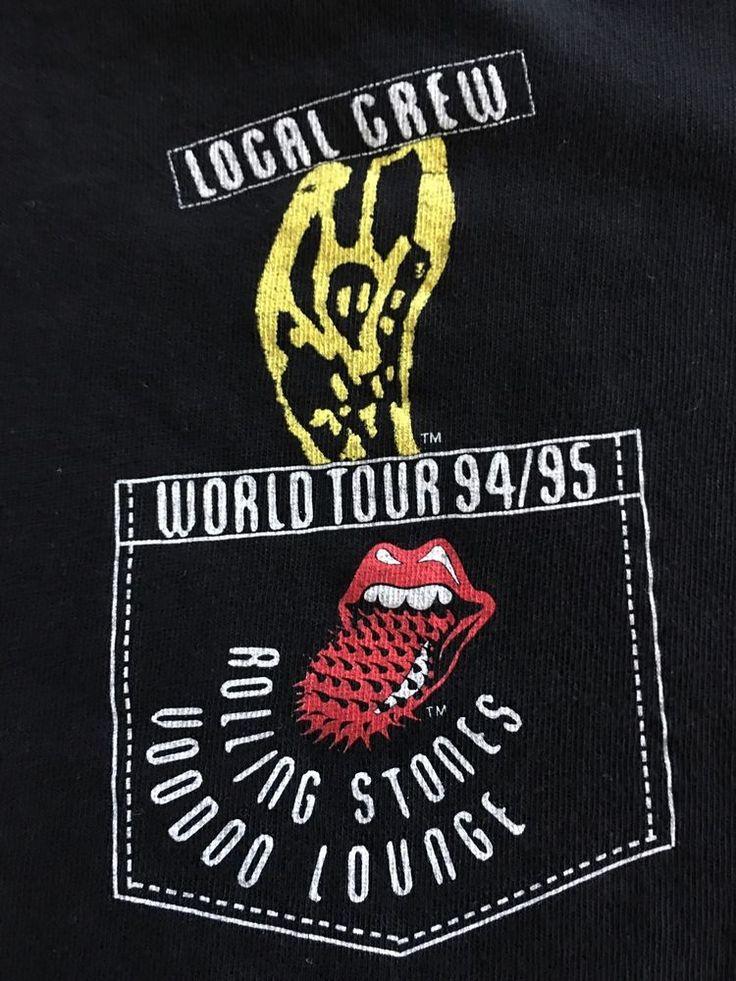 Vintage Rolling Stones Voodoo Lounge 94/95 Crew Tour Shirt XL Exc Cond.  | eBay