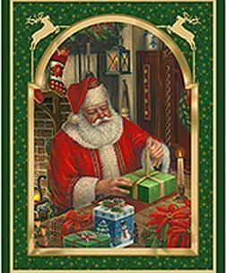 Christmas Eve Santa Wall Hanging Panel By Vip Cranston