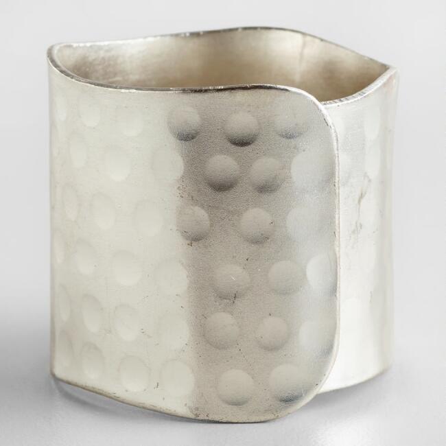 Silver Napkin Rings, Set of 4 - v2