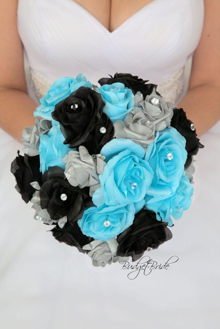 Davids Bridal Pool Blue Bouquet