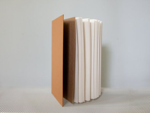 Slim Tan Notebook with Round Spine
